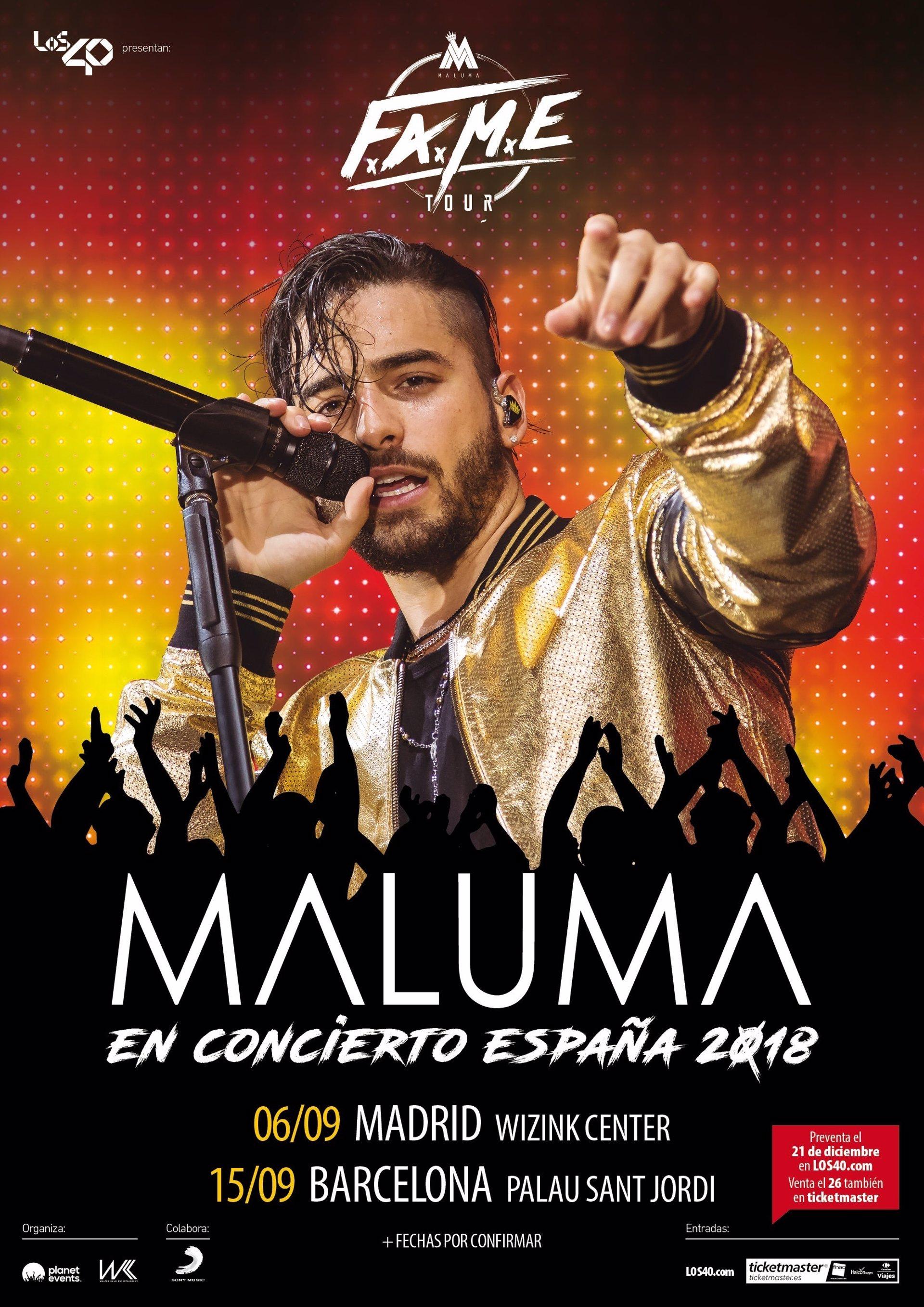 Maluma Anuncia Conciertos En Madrid Y Barcelona En
