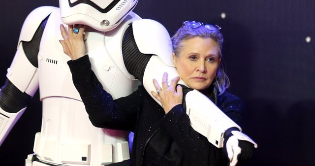 Carrie Fisher es Leia en Star Wars