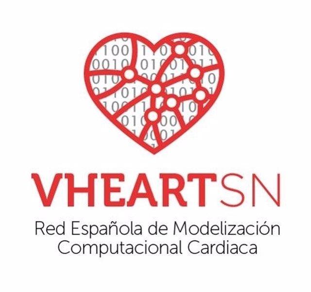 Logotip de la nova Xarxa Espanyola de Modelització Computacional Cardíaca