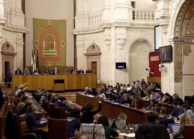Imagen del Pleno del Parlamento de Andalucía
