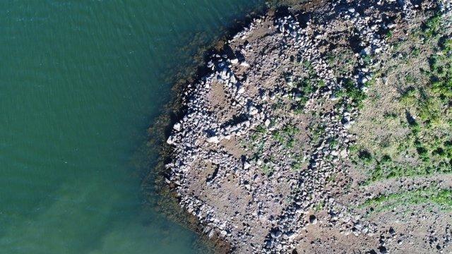 Vista aérea del asentamiento íbero en Sierra Boyera
