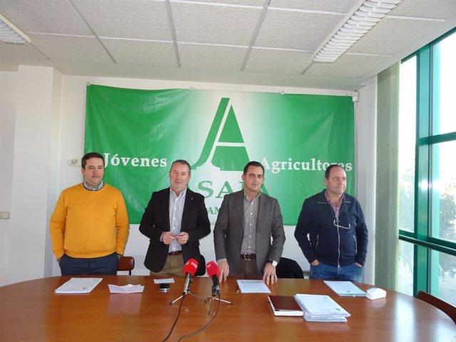 Dirigentes de Asaja, en el balance del año en Salamanca.