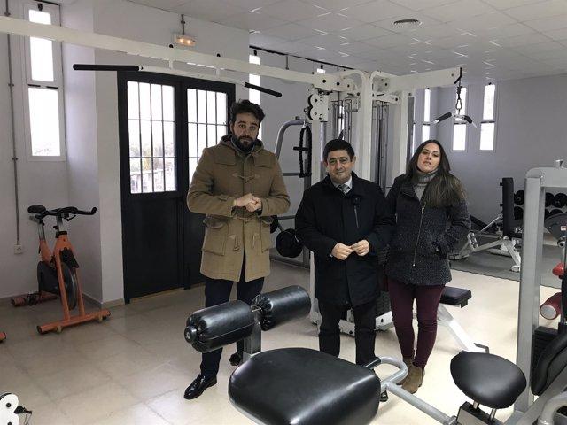Visita al gimnasio de Garcíez