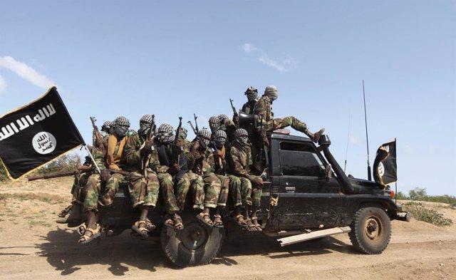 Milicianos Del Movimiento Armado Islamista Somalí Al Shabaab