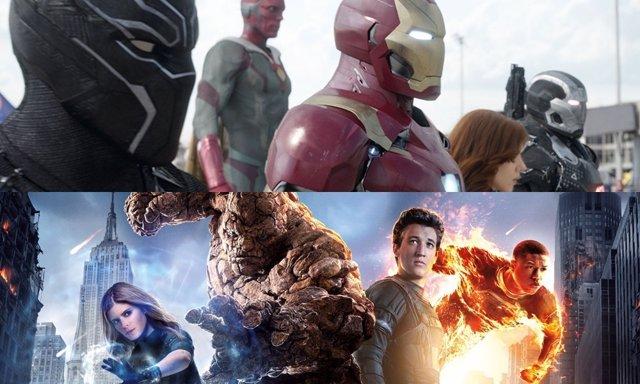 Vengadores y Cuatro fantásticos