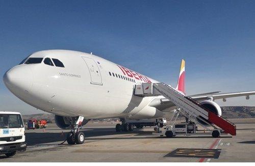 A330-200 de Iberia bautizado como Santo Domingo