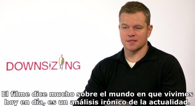 Entrevista con Matt Damon por Una vida a lo grande