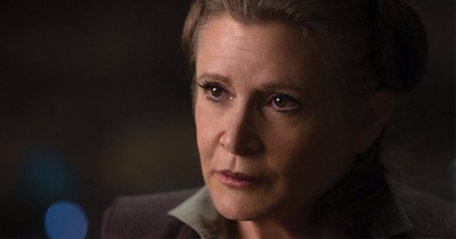 Carrie Fisher en Star Wars: Los últimos Jedi
