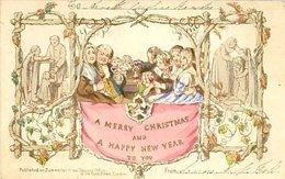 Primera tarjeta de felicitación navideña