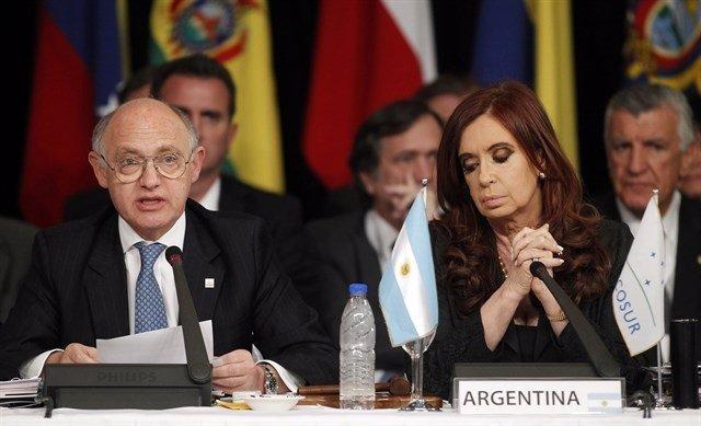 Héctor Timerman y Cristina Fernández de Kirchner