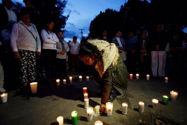 Homenaje a las víctimas del terremoto en Ciudad de México