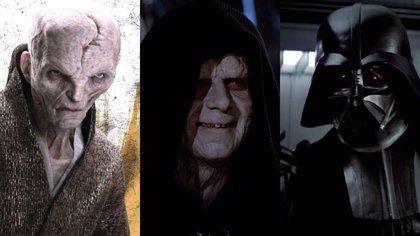 Star Wars: ¿Revelada la conexión de Snoke con Darth Vader y Darth Sidius?
