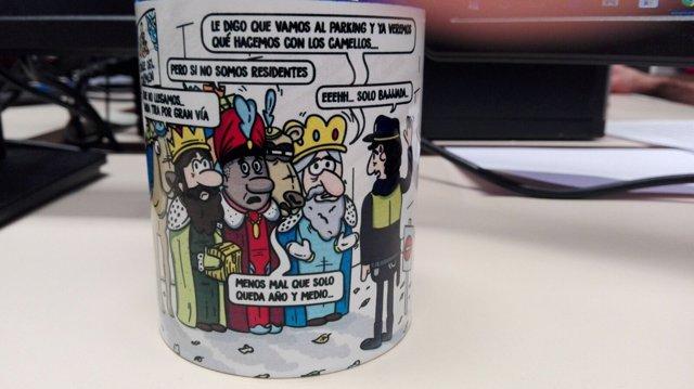 Felicitaciones De Navidad Con Los Reyes Magos.Pp Tira Del Humor Para Felicitar La Navidad Con Unos Reyes Magos Que No Llegan Por Culpa De Las Calles De Sentido Unico