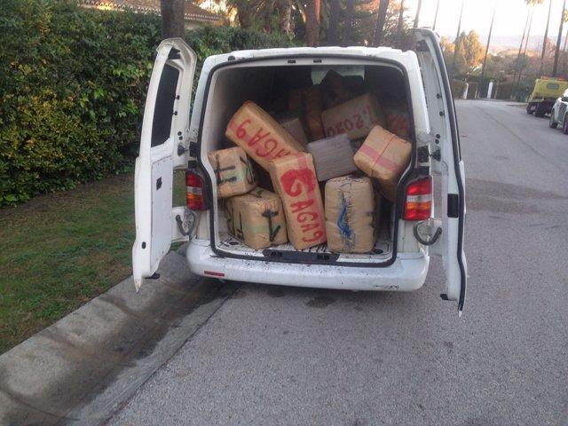 Droga intervenida por la Policía Local de San Roque
