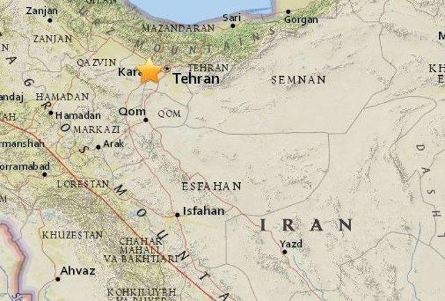 Terremoto de magnitud 5,2 en los alrededores de Teherán
