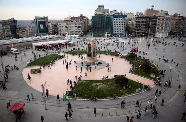 Plaza de Taksim, en Estambul (Turquía)