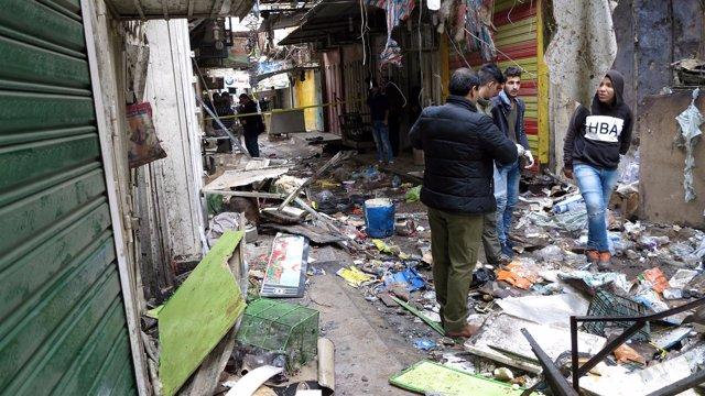 Atentado en un mercado del centro de Bagdad