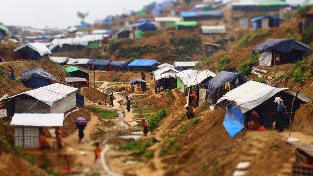 Campamento de refugiados rohingya en Bangladesh