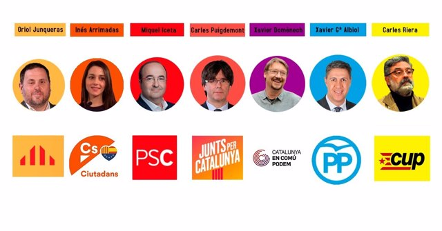 Candidatos a las elecciones de Cataluña del 21 de diciembre de 2017
