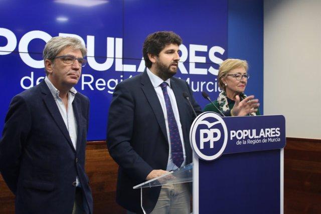 Prensa Pp Regional (Np) López Miras Preside La Junta Directiva Regional+Audio+Fo