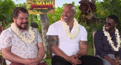 """Dwayne Johnson, Jack Black y Kevin Hart protagonizan Jumanji: Bienvenidos a la jungla: """"Esta película tiene corazón"""""""