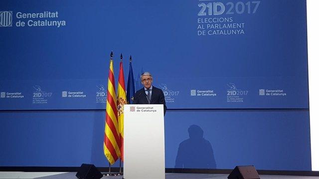 Juan Antonio Puigserver facilita datos sobre las elecciones del 21-D