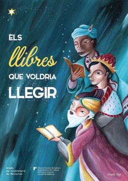 Cartel de la Campaña de Navidad del Gremio de Libreros de Mallorca