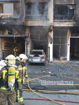 Incendio en Güeñes