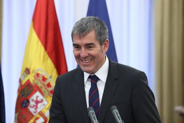 Rueda de prensa de Fernando Clavijo tras reunirse con Dolors Montserrat