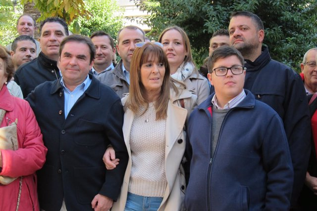 Miguel Moreno con miembros de Jaén Adelante (Archivo)