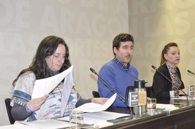 Los diputados de Podemos han valorado hoy el borrador de presupuestos