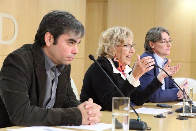 Jorge García Castaño, Manuela Carmena y Marta Higueras