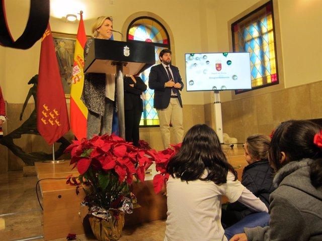 El presidente de la Comunidad y la consejera Martínez-Cachá presentan el vídeo