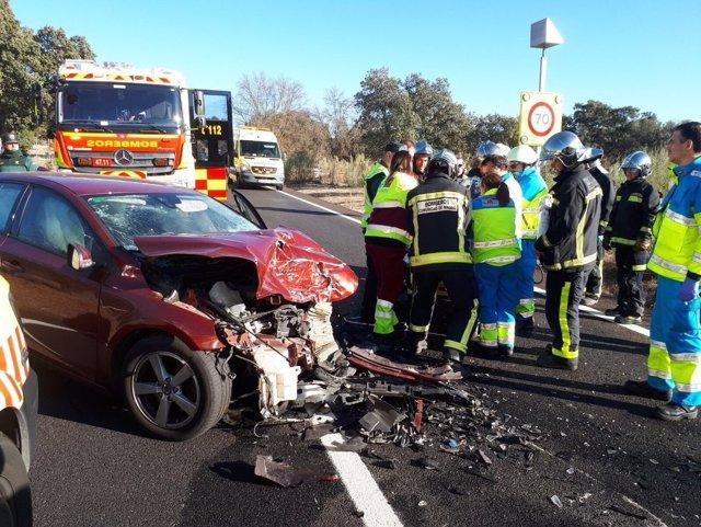 Imagen del accidente en la M-513