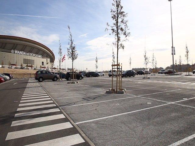 Aparcamiento en el Wanda Metropolitano