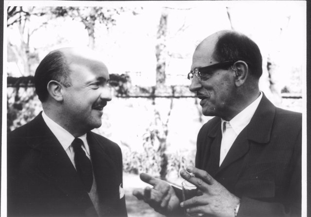 Luis Buñuel amb Ricardo Muñoz-Suay
