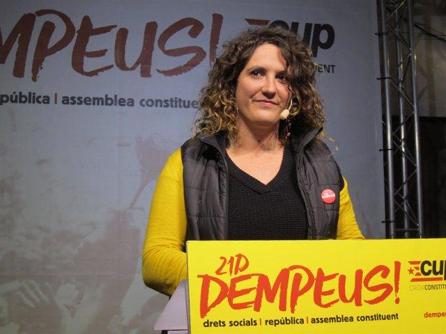 Rueda de prensa de Núria Gibert (CUP) sobre el 21D