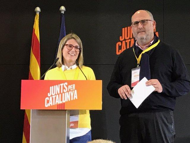 Elsa Artadi junto a Eduard Pujol siguen la noche electoral