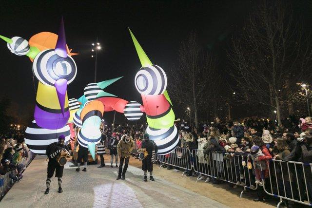 Pasacalles en Madrid Río por Navidad