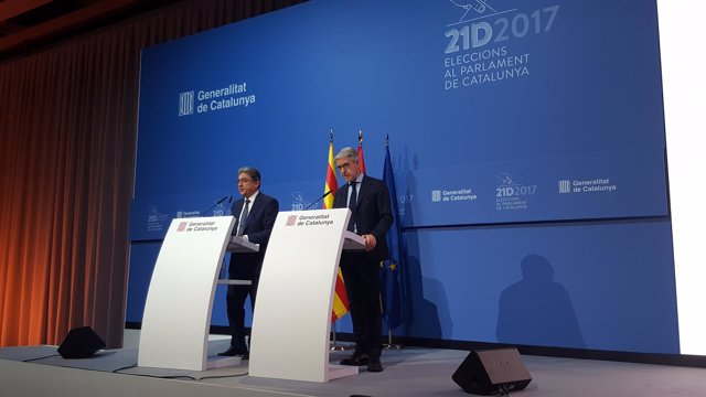 Enric Millo (delegado del Gobierno en Catalunya) Juan Antonio Puigserver