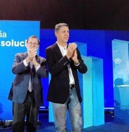 Mariano Rajoy y Xavier García Albiol, PP