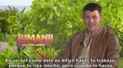 """Nick Jonas: """"Jumanji es una historia única acerca de la amistad"""""""