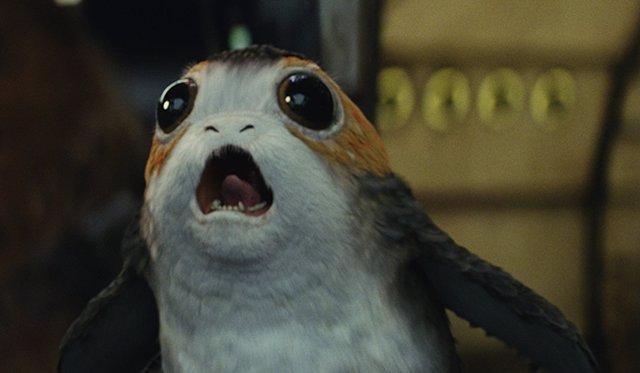 Porg en Los últimos Jedi