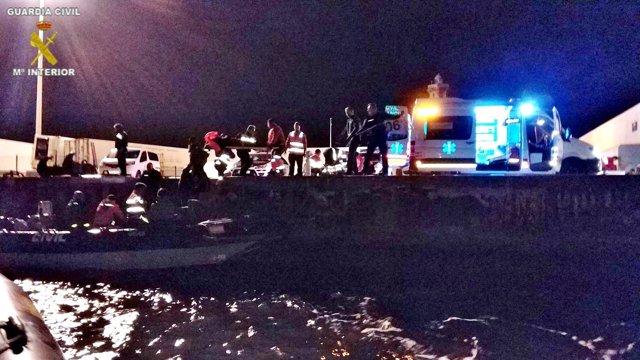 Operación de rescate en Melilla.
