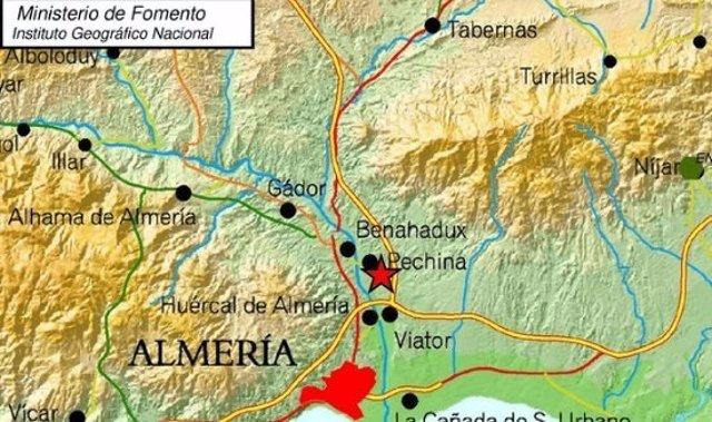Terremoto en la provincia de Almería