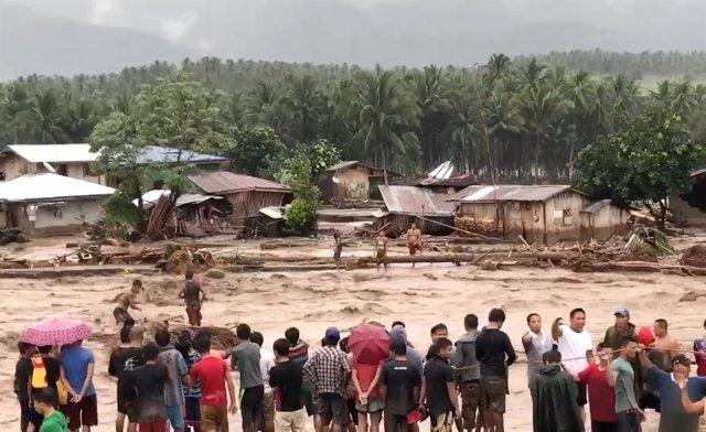 Inundaciones en Filipinas por el tifón 'Vinta'