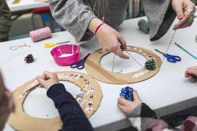 Imagen de uno de los talleres infantiles