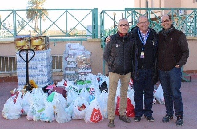 Campaña de recogida de alimentos en Sabic