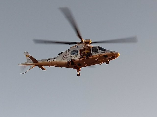Helicópetro que ha participado en el rescate