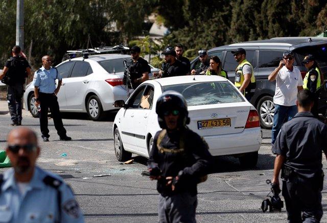 Policía en Jerusalén